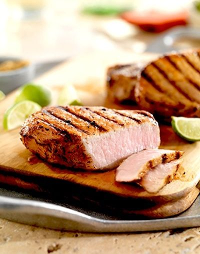 Garlic Lime Marinated Pork Chops Recipe — Dishmaps
