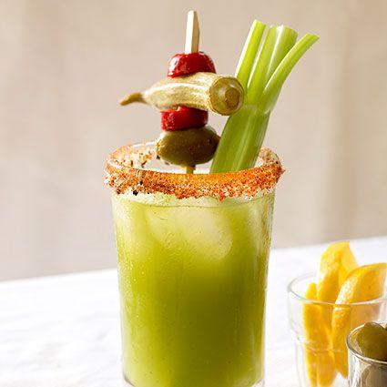 Tomatillo Bloody Mary Recipe | Drinky drink | Pinterest