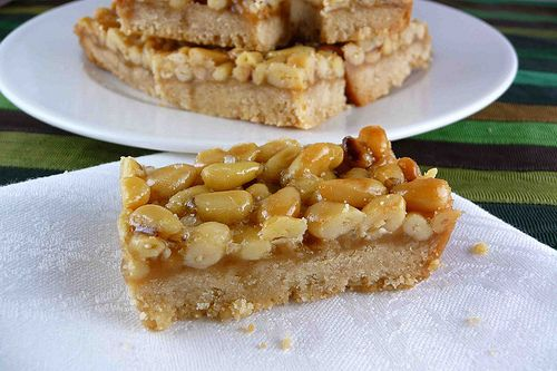 Pine Nut, Caramel & Sea Salt Shortbread Bars Recipe by CookinCanuck ...