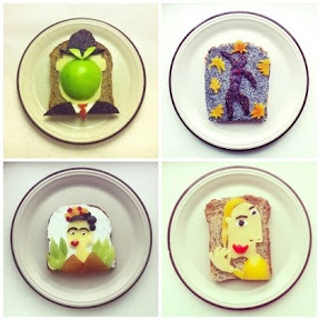 Breakfast food art
