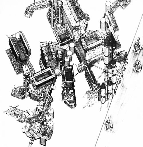 PETER COOK, PLUG-IN CITY, PROJECT, 1964