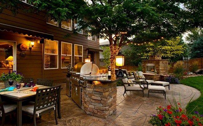 Backyard Stamped Concrete Patio Ideas : Backyard stamped concrete patio ideas  Garden & Outdoor Living