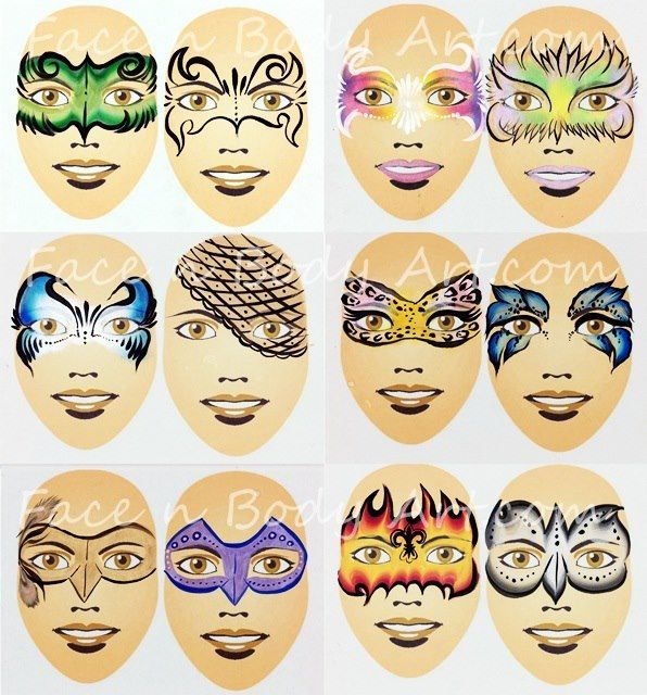 Gallery For gt Simple Face Painting Design Sheet
