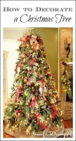 Decorating A Christmas Tree With Ribbon Holiday Pinterest