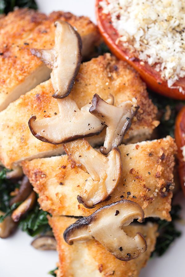 Chicken Cutlets With Spicy Garlic Kale Recipes — Dishmaps