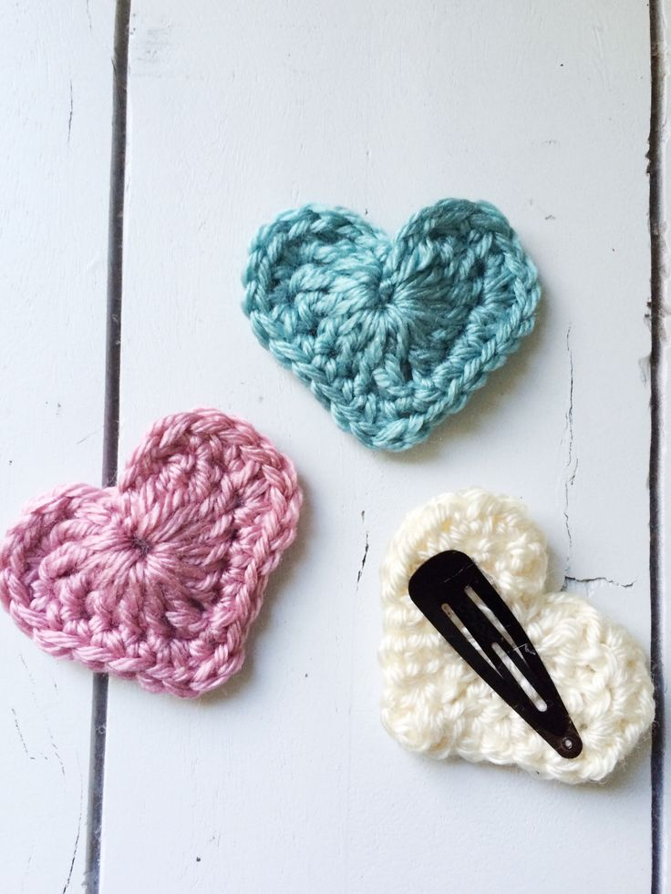 crochet hair clips Crochet Adventures Pinterest
