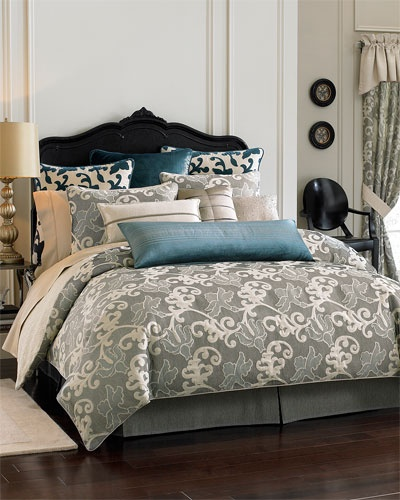 Best Blue Grey Black And Cream Bedroom For The Home Pinterest 640 x 480