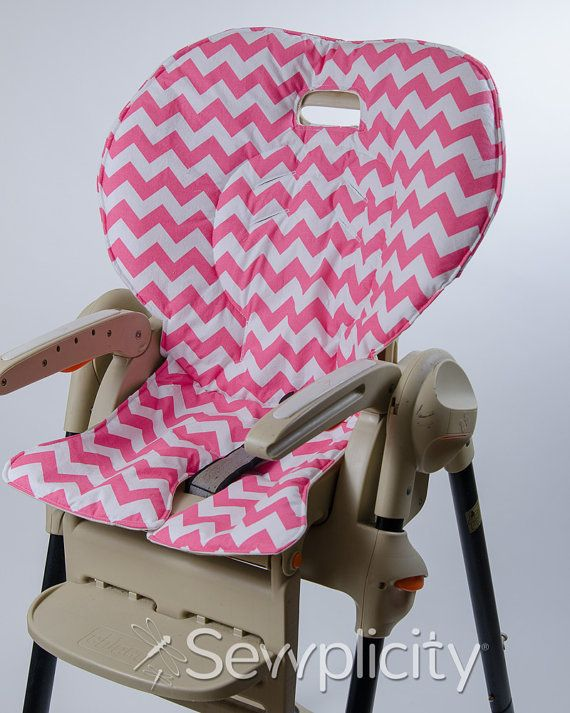 Fisher price easy fold healthy care high chair cover chevron pink