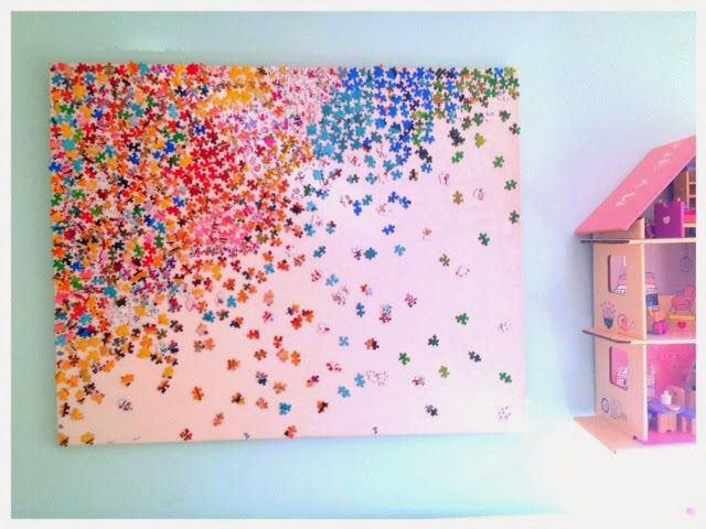 puzzle wall art kid stuff pinterest