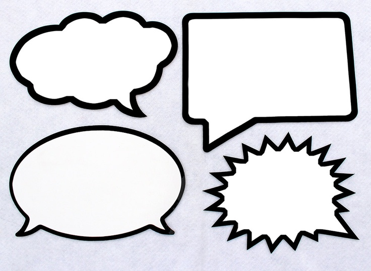 speech bubble template printable