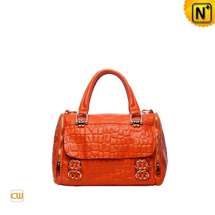 Women's Stone Embossed Leather Handbags Satchel Bag CW280086 $125.67 - www.cwmalls.com