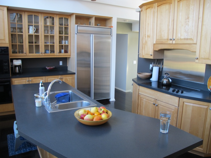 Kitchen maple cabinets with gray home ideas pinterest