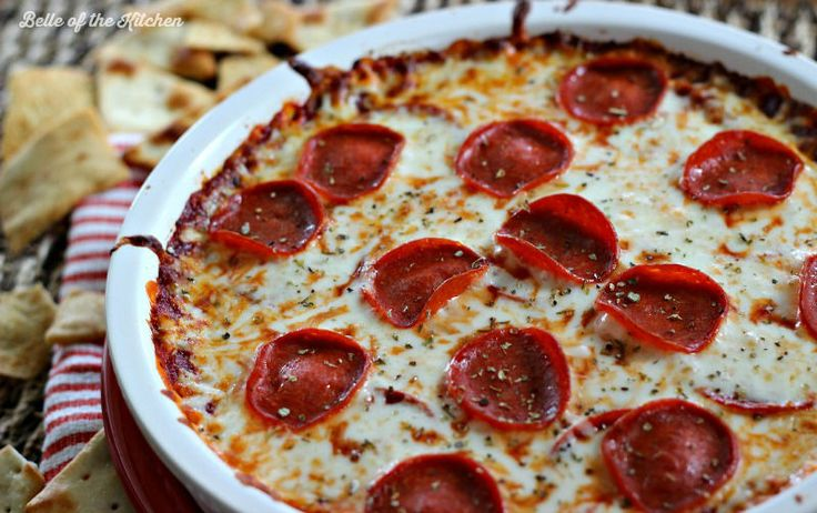 Pepperoni Pizza Dip - Belle of the Kitchen