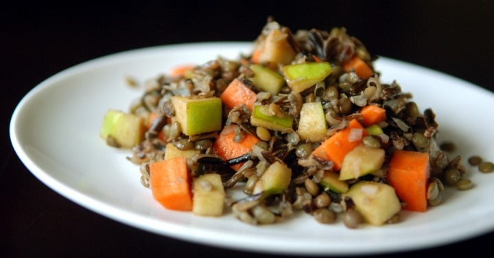 apple, lentil, wild rice salad | Food & recipes | Pinterest