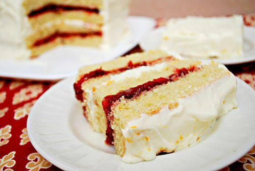 Orange Cranberry Layer Cake. | Cakes/cupcakes I want to try! | Pinter ...