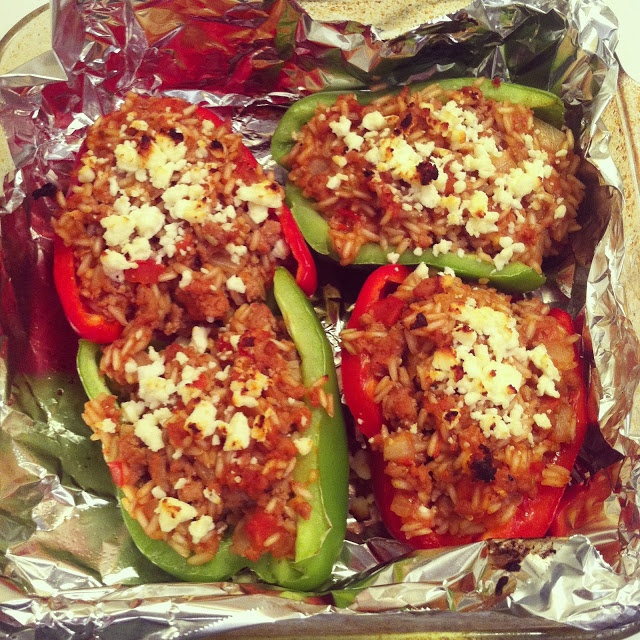 city girl | country roots: Healthy BBQ, Brown Rice & Turkey Stuffed ...