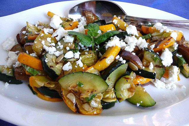 Grilled Summer Squash With Feta And Mint Recipes — Dishmaps