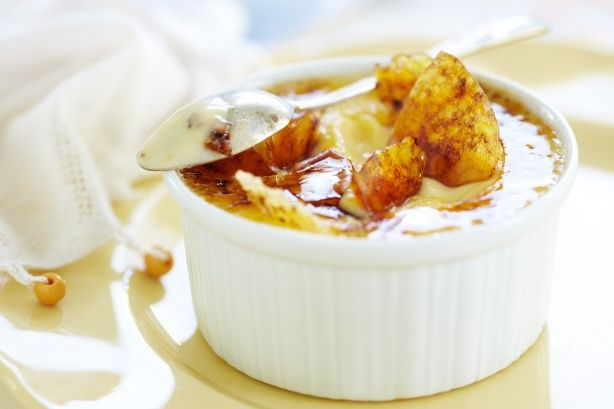 Vanilla-bean creme brulee Taste.com (all of the comments say to use ...