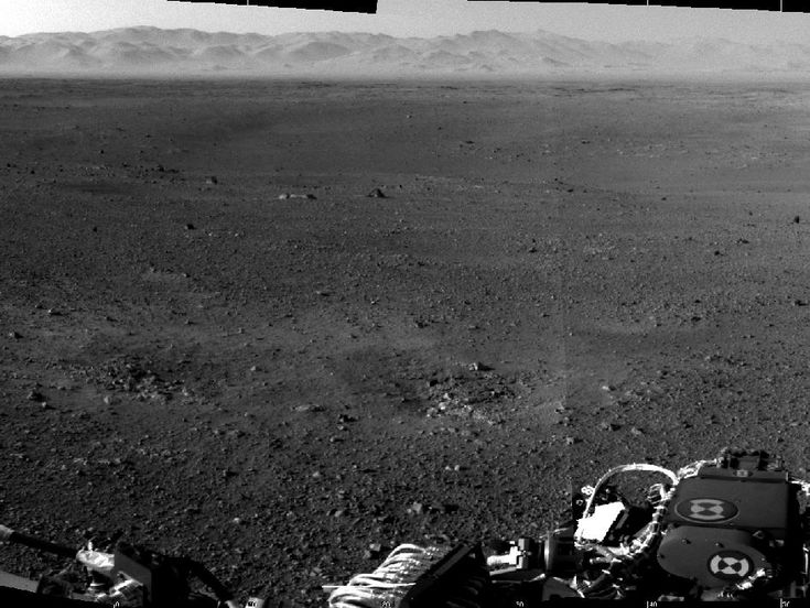 NASA - Curiosity's New Home  Not quite outside the galaxy... but within our wonderful solar system!