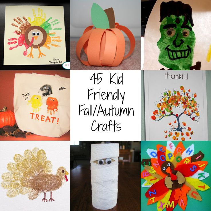 45 Kid Friendly Fall/Autumn Crafts | A Spectacled Owl