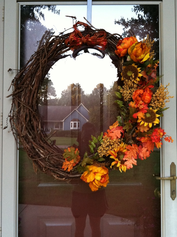Diy fall wreath for Fall diy crafts pinterest
