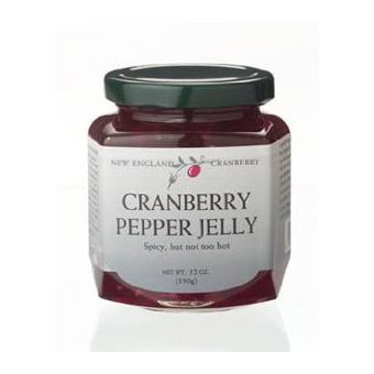 Cranberry Pepper Jelly. No recipe here, but it would be easy to work ...