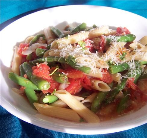 ... beans, tomatoes and extra-virgin olive oil tossed with penne in a