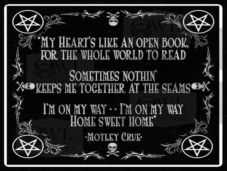 Motley Crue home sweet home  Motley Crue  Pinterest