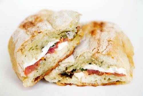 Mozzarella panini: mine will include Whole basil leaves, roasted red ...