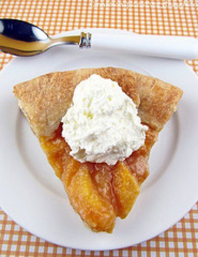 Peaches and Cream Galette by Cinnamon Spice and Everything Nice