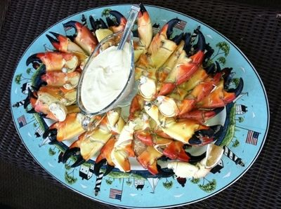 Stone Crab Claws with Mustard Sauce Recipe