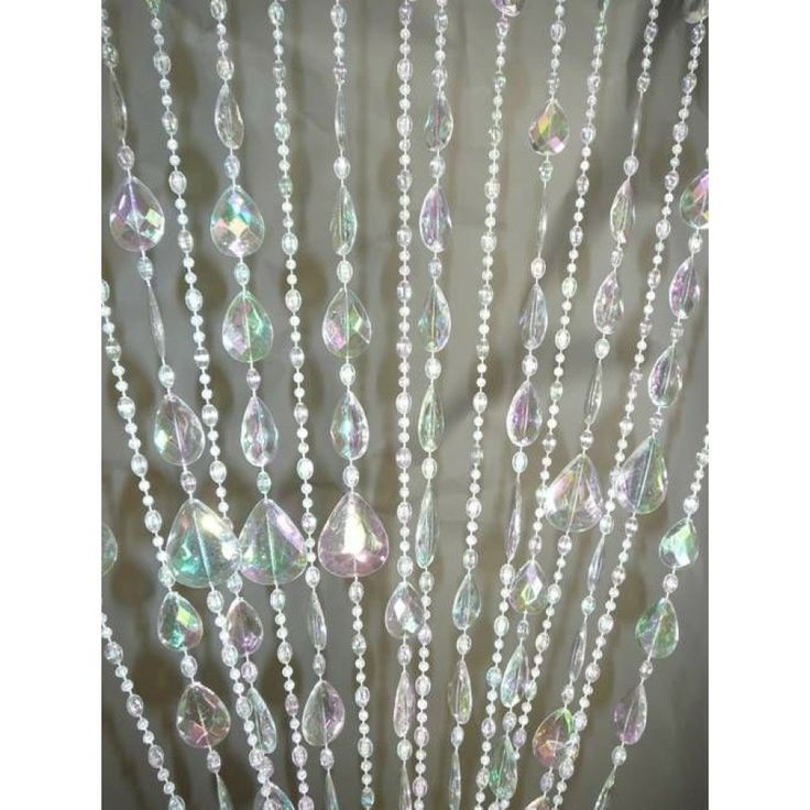 3 x 6 foot beaded curtain panels acrylic gemstone