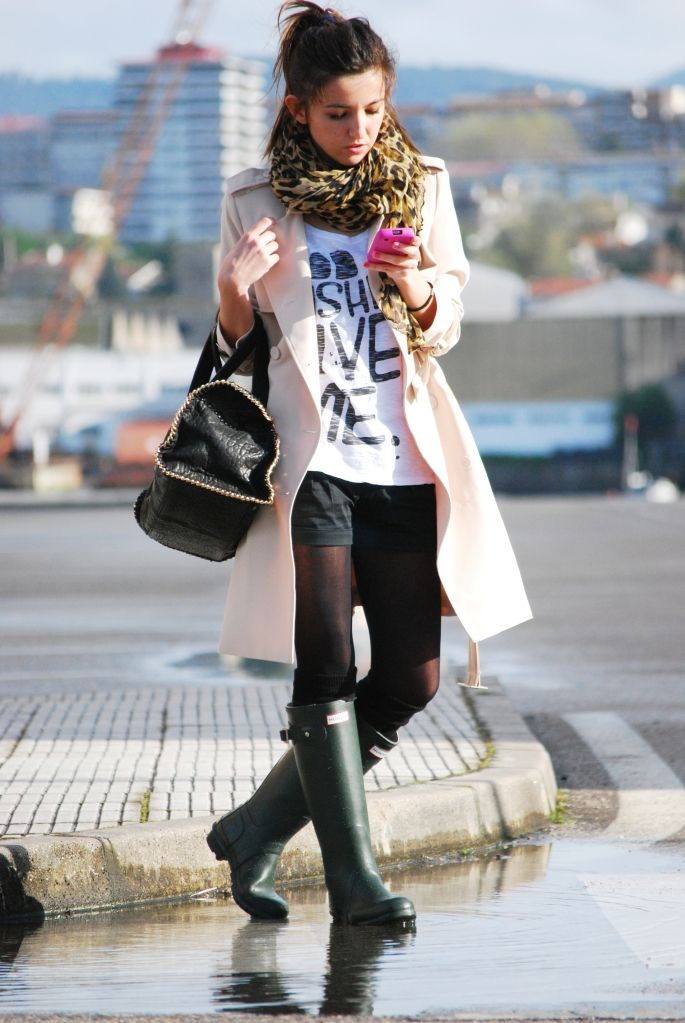 Trench coat.  Shorts.  Leopard scarf for the WIN!  #FTW  #fashion  #winter