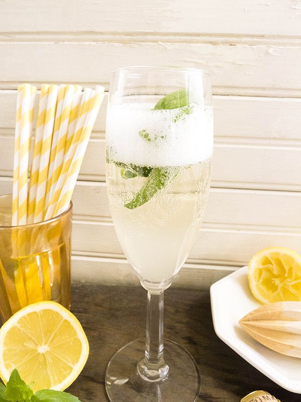 Basil Prosecco and Limoncello | Signature Cocktail by wedding wellness ...