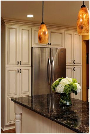 Cabinets Surrounding Refrigerator Kitchen Pinterest