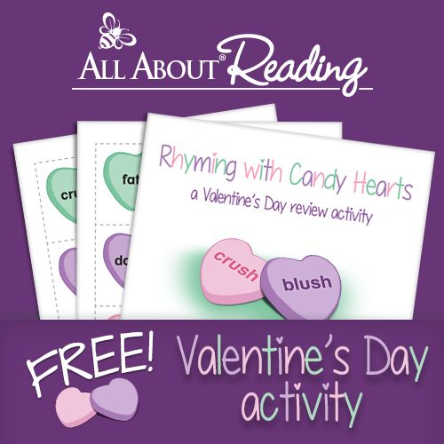 Rhyming Game with Candy Hearts Printable