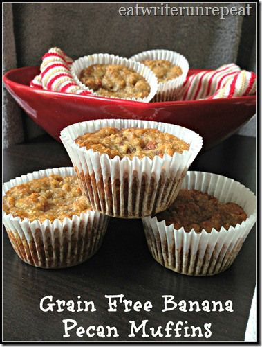 grain free banana pecan muffins | Gluten Free Fridays (recipes) | Pin ...