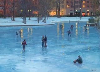 ice skating on the frog pond <3