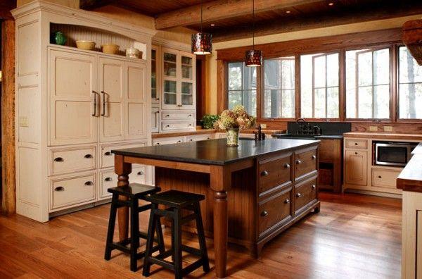 Antique white glazed cabinets kitchen ideas pinterest for Antique white glazed kitchen cabinets