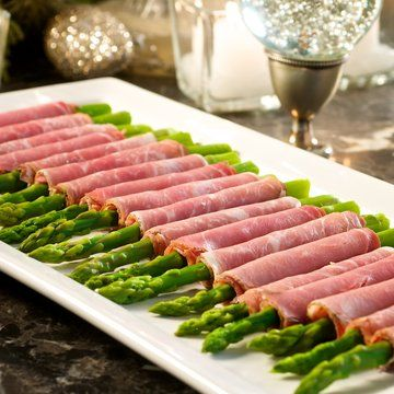 prosciutto wrapped asparagus | Hors D'oeuvres | Pinterest
