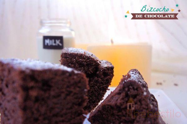 Baño Blanco Para Bizcocho:Bizcocho-de-chocolate-Chocolate-cake1