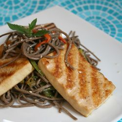 Pan Grilled Tofu and Soba Noodle: Satisfying, sour, and slightly sweet ...