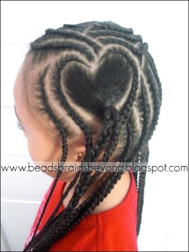 Pictures of Little Girls Cornrow Hairstyles for Heart