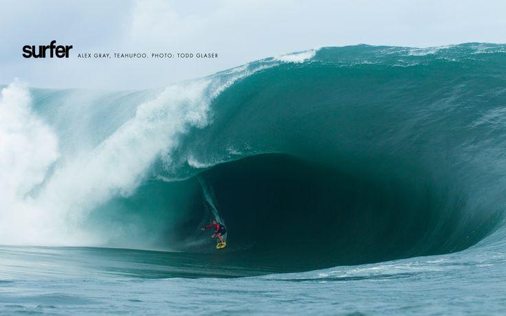 Alex Gray, Teahupoo. Photo: Todd Glaser #SURFERPhotos