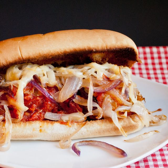 Meatball Subs with Gruyere and Caramelized Onions | Neighborfood
