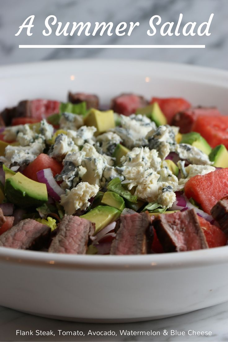 Flank steak, tomato and watermelon salad | Recipe
