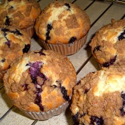 recipe for blueberry muffins. Good without the crumb topping, better ...