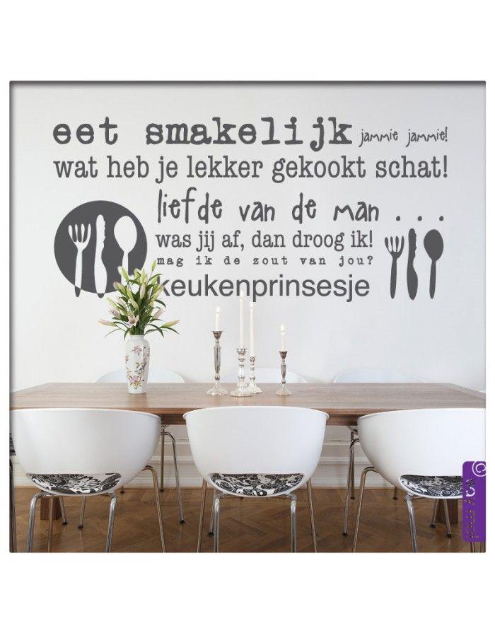 Platte Design Radiator Keuken : Mooie Keuken Teksten : Muursticker Tekst eet smakelijk Illustraties
