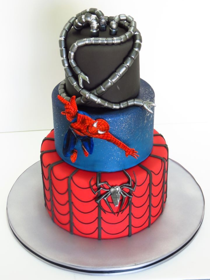 Spiderman cake. would love to make this for chris's birthday.