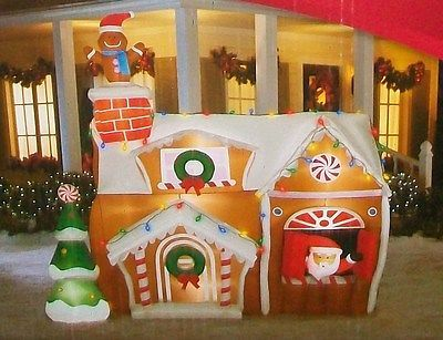 GEMMY CHRISTMAS GINGERBREAD HOUSE LIGHTED AIRBLOWN INFLATABLE NEW ...
